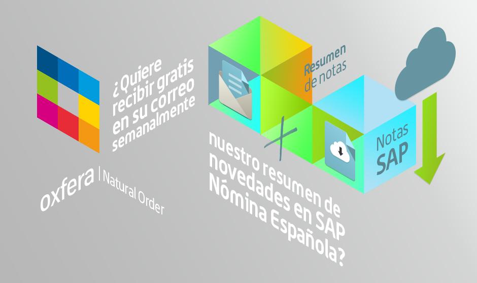 Reciba cómodamente en su correo todas las novedades en SAP Nómina Española de forma gratuita